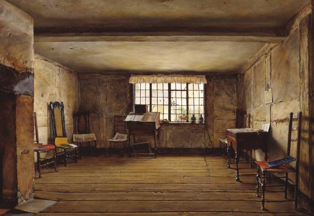 The Room in Which Shakespeare Was Born 1853 by Henry Wallis 1830-1916