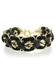 4. Leather Plait Bracelet - Oasis - £12