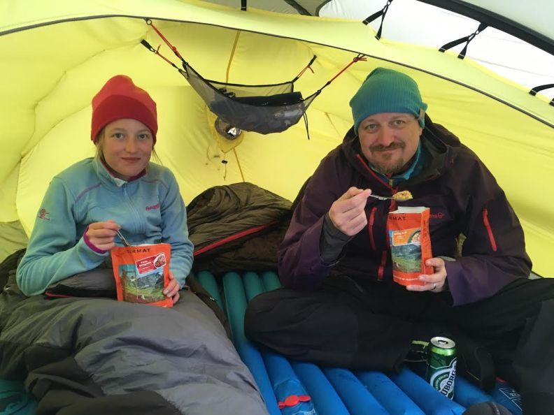 Middag i teltet
