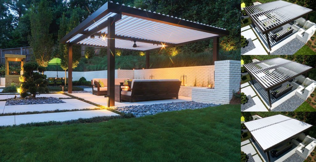 Movable Roof Cover & Below ... on Patio Cover Ideas For Rain id=68908