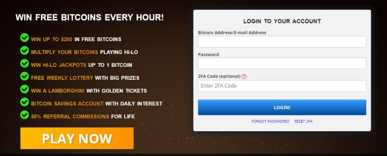 Win Bitcoins every hour