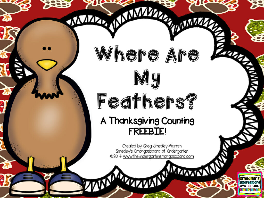 Where Are My Feathers Turkey Counting Freebie 001