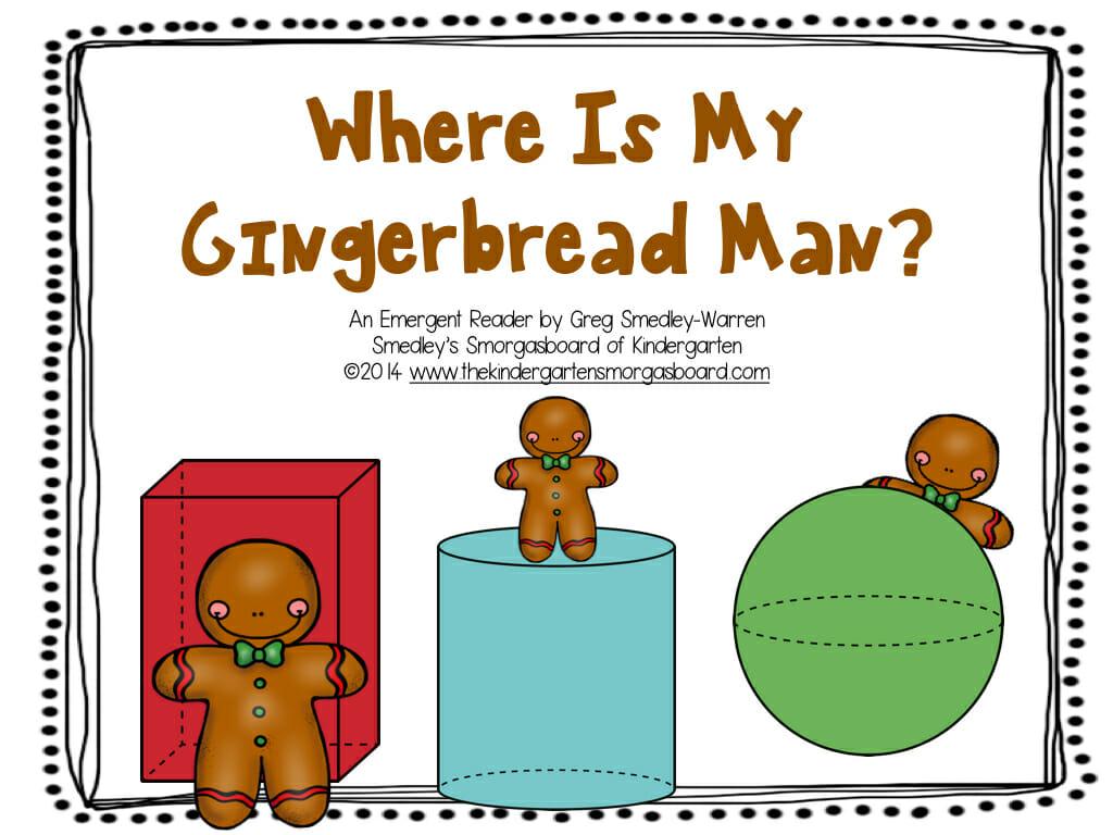 Where Is My Gingerbread Man Emergent Reader 001 The