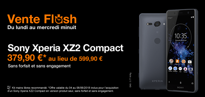 vente flash orange xz2 compact