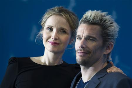 "Cast members Delpy and Hawke pose during photocall to promote their movie ""Before Midnight"" at 63rd Berlinale International Film Festival in Berlin"