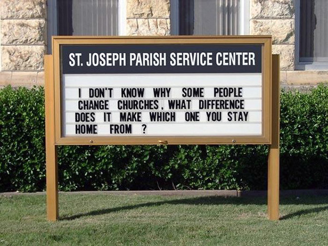 Hilarious church sign.