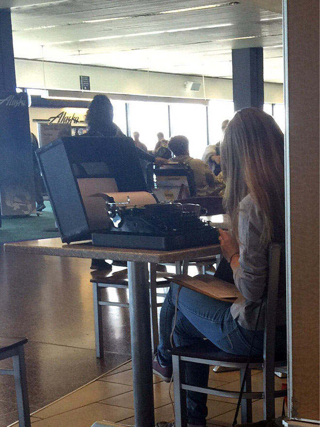 Real hipsters don't need laptops.