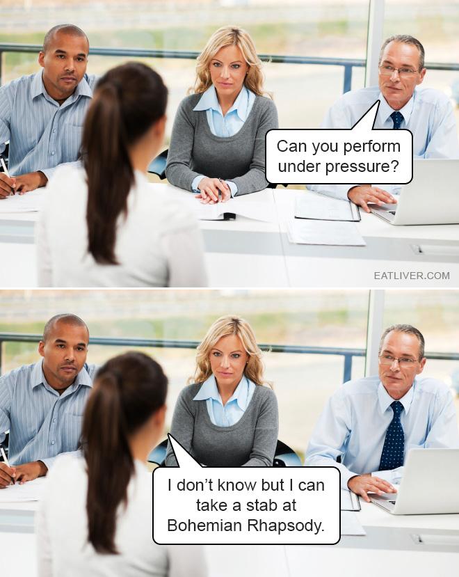 Brilliant job interview answer.