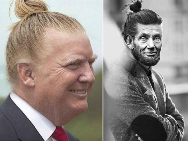 He look great with a man bun!