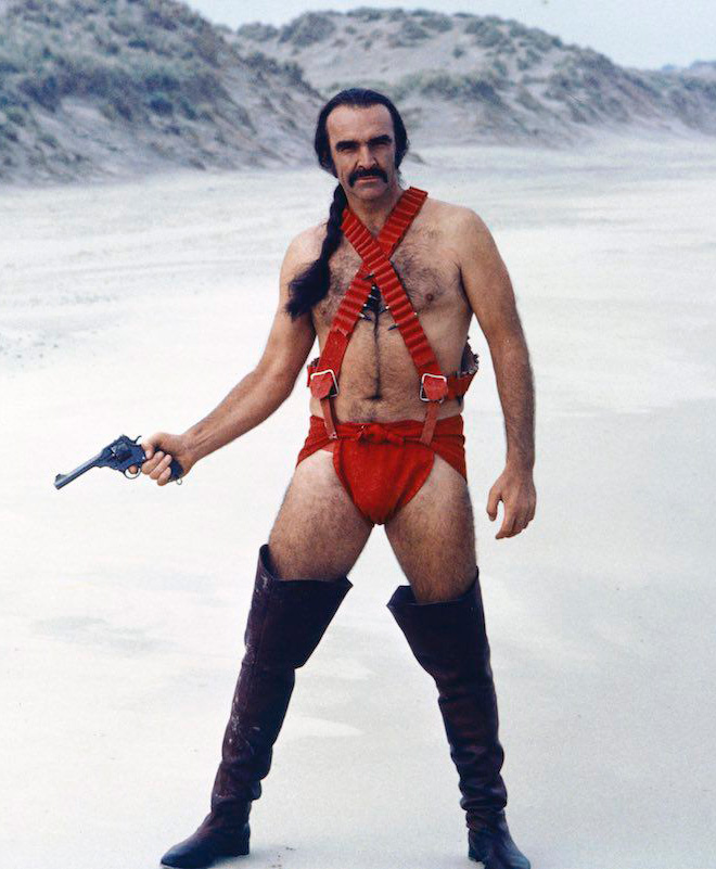 Screenshot from a Zardoz movie.