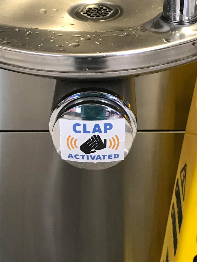 Evil prank sticker.
