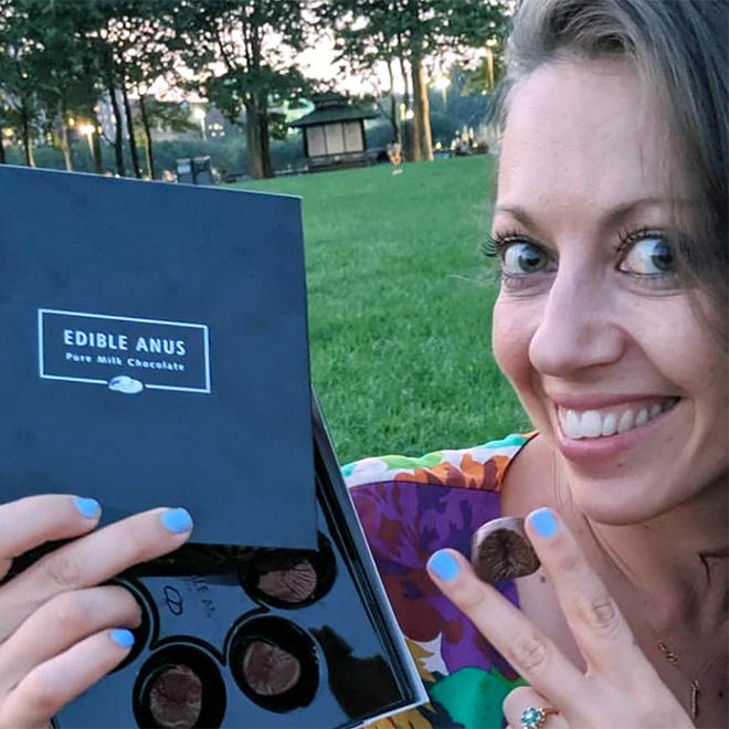 """Edible Anus"" chocolate candy."