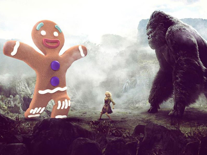 Two movies mashed together.