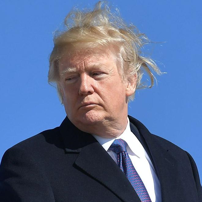 Trump always loses to wind.