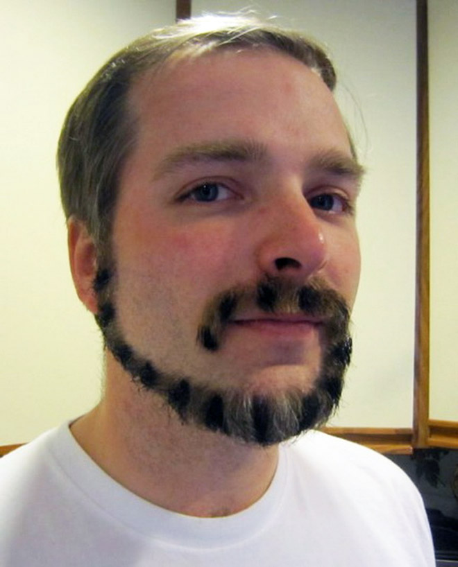 Monkey tail beards are in fashion now!