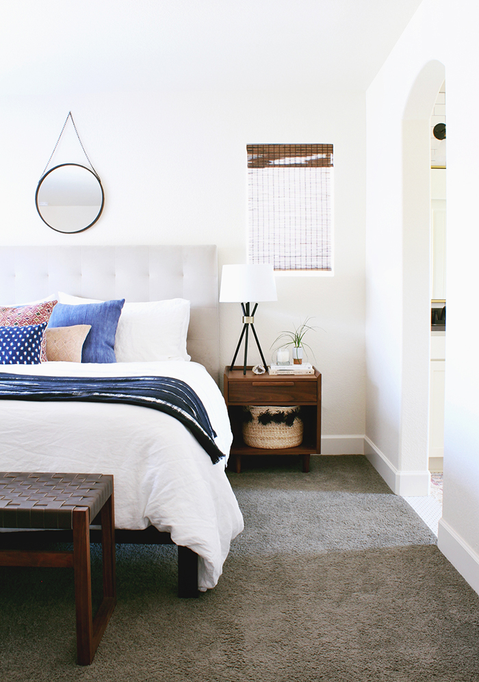 A Modern, Eclectic Bedroom Reveal - Hither & Thither on Modern Bohemian Bedroom Decor  id=36418