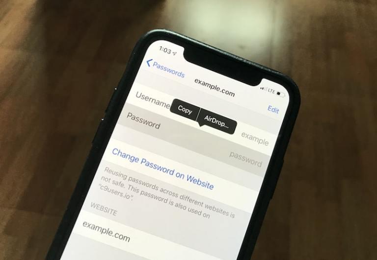 Как поделиться паролями с помощью AirDrop в iOS 12