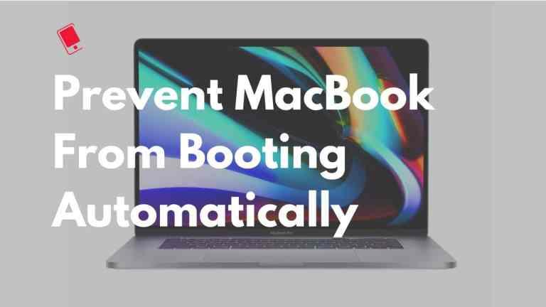 Как отключить автоматическую загрузку MacBook при открытой крышке