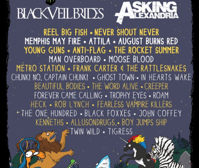 All Bands Aside From Heck And Black Foxxes Were On This Years Vans Warped Tour In The Us And We Are Thrilled They Will Be Joining Us For Warped Tour Uk