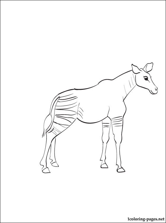 Okapi coloring page print out coloring pages, easter bunny coloring pages