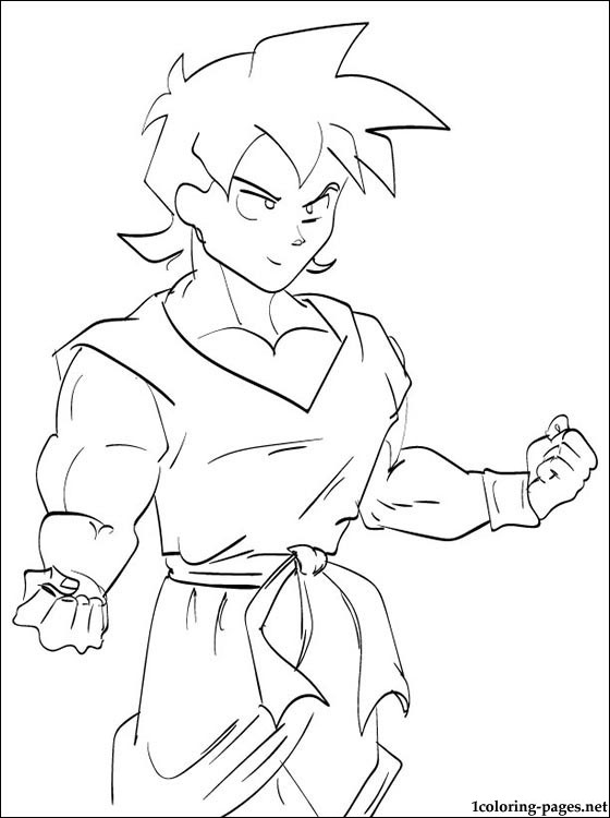 Goten Dragon Ball Coloring Page Coloring Pages