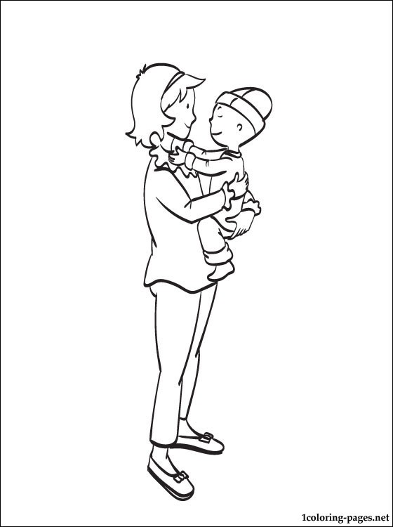 Caillou mommy coloring page coloring pages, i love my mommy coloring pages