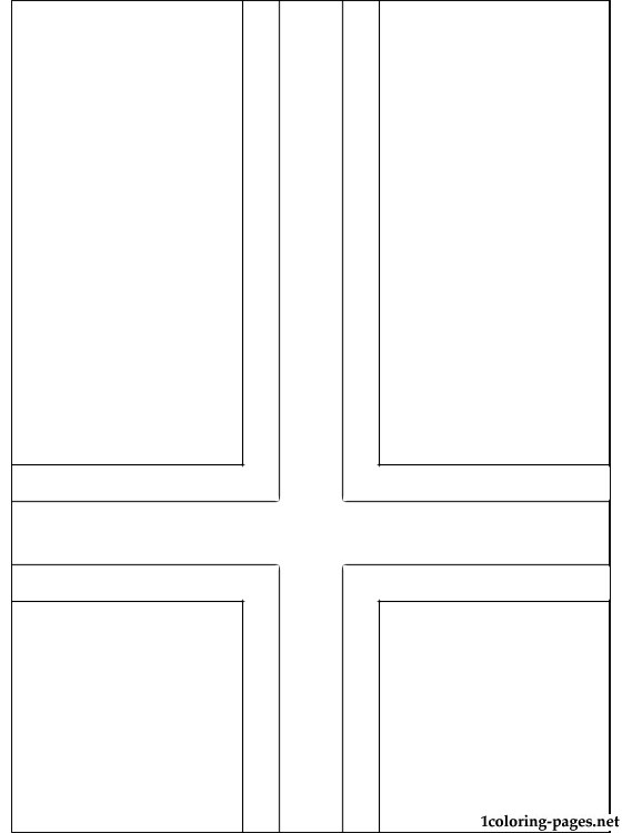 Iceland Flag Coloring Page Coloring Pages
