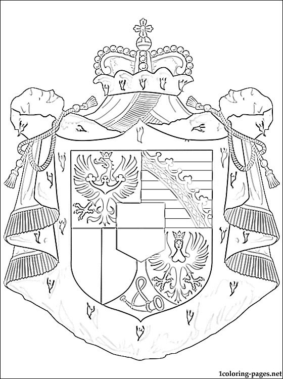 Liechtenstein Coat Of Arms Coloring Page Coloring Pages