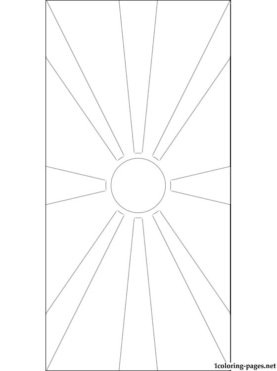 Macedonia Flag Coloring Page Coloring Pages