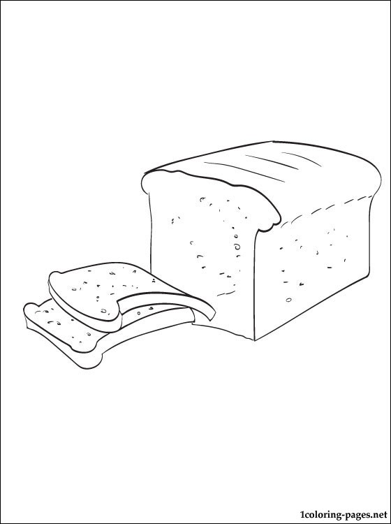 Coloring Page Bread Coloring Pages