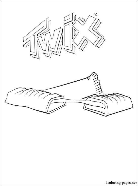 Twix Coloring Page Coloring Pages