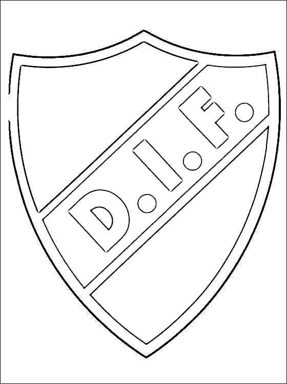 Emblem Of Djurgrdens IF Fotboll Coloring Page Coloring