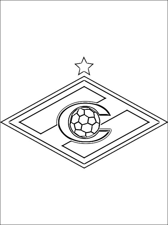 Logo Of FC Spartak Moscow Coloring Pages