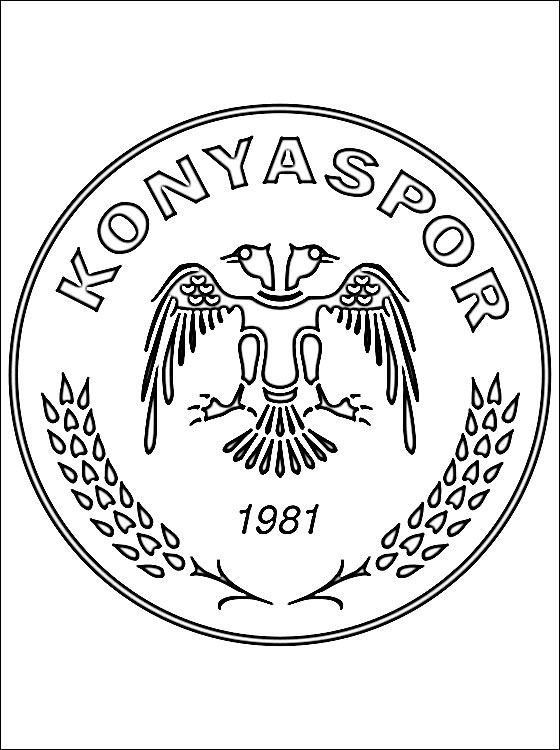 Coloring Page Of Konyaspor Logo Coloring Pages