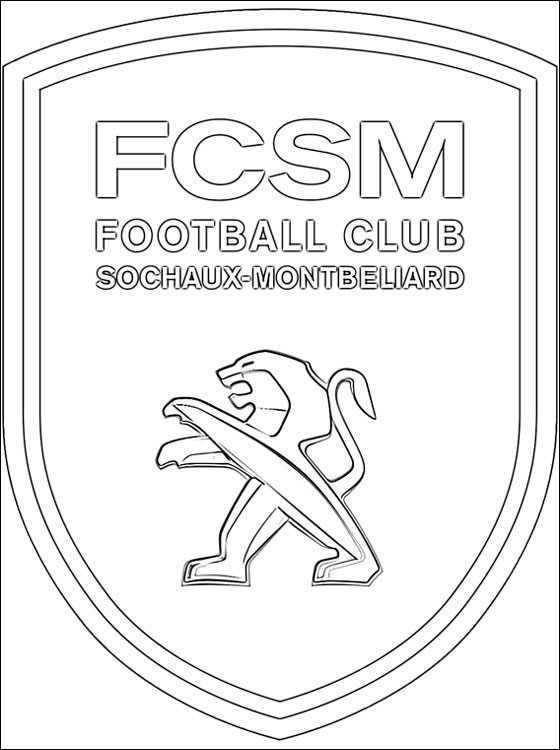 Logo Of FC Sochaux Montbliard Coloring Pages