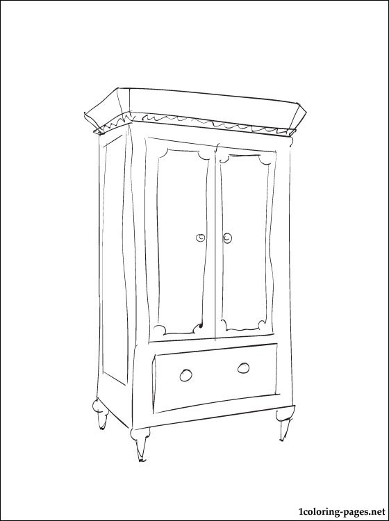 Armoire Coloring Page Coloring Pages