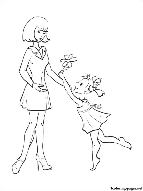 Free Printable Coloring Mothers Day Card Coloring Pages