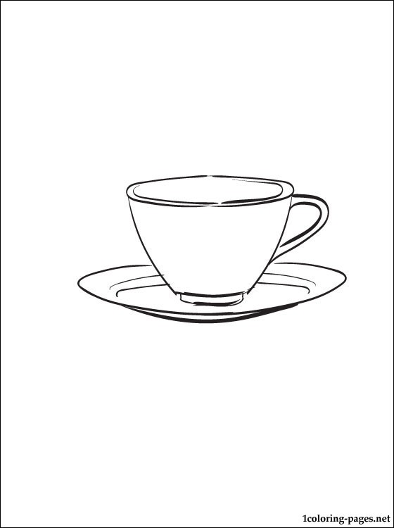 Saucer Coloring Page Coloring Pages
