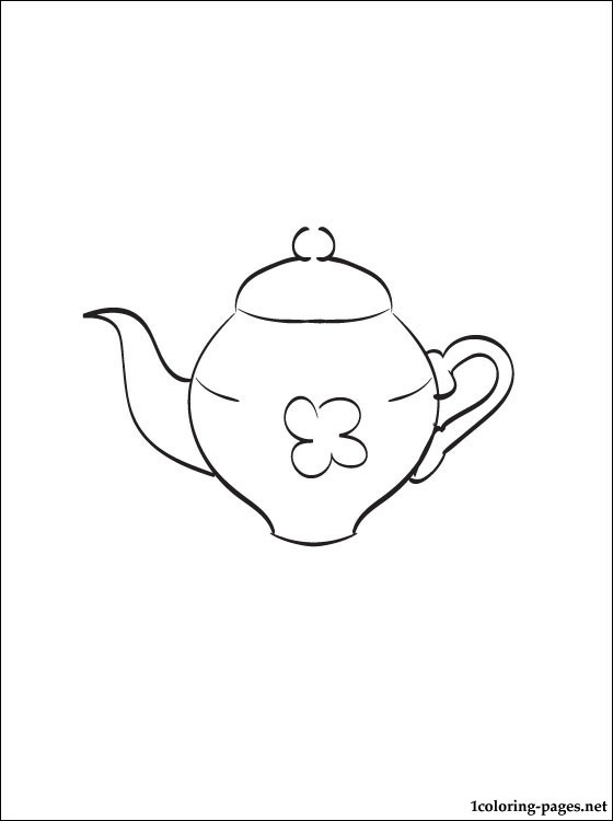 Teapot Coloring Page Coloring Pages