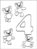 number 4 coloring page # 51