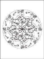 Mandala Bee Coloring Page Coloring Pages