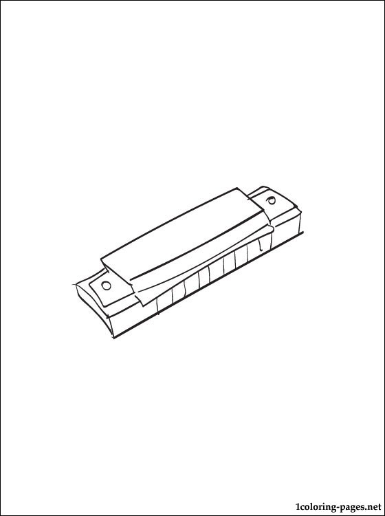 Harmonica Coloring Page Coloring Pages