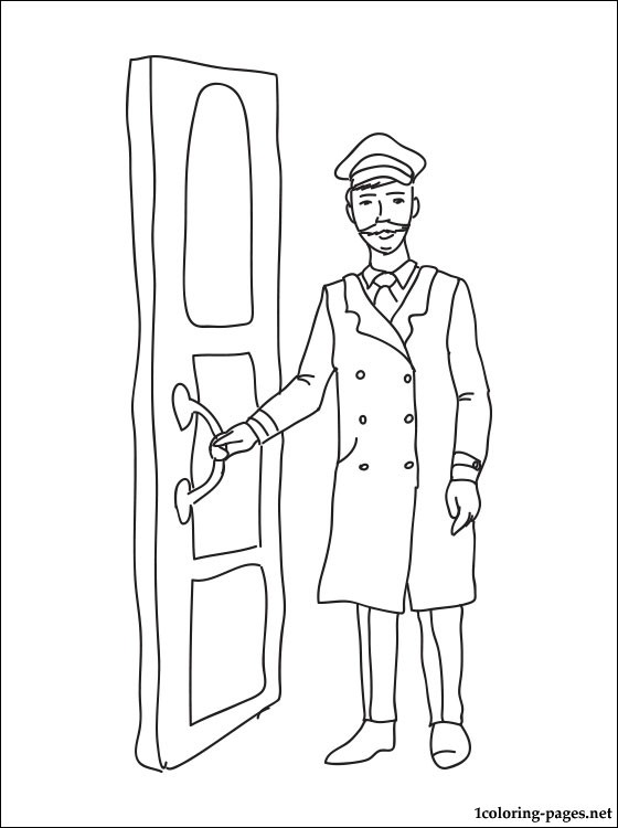 Doorman Coloring Page Coloring Pages