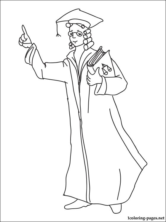 Lawyer Coloring Page Coloring Pages