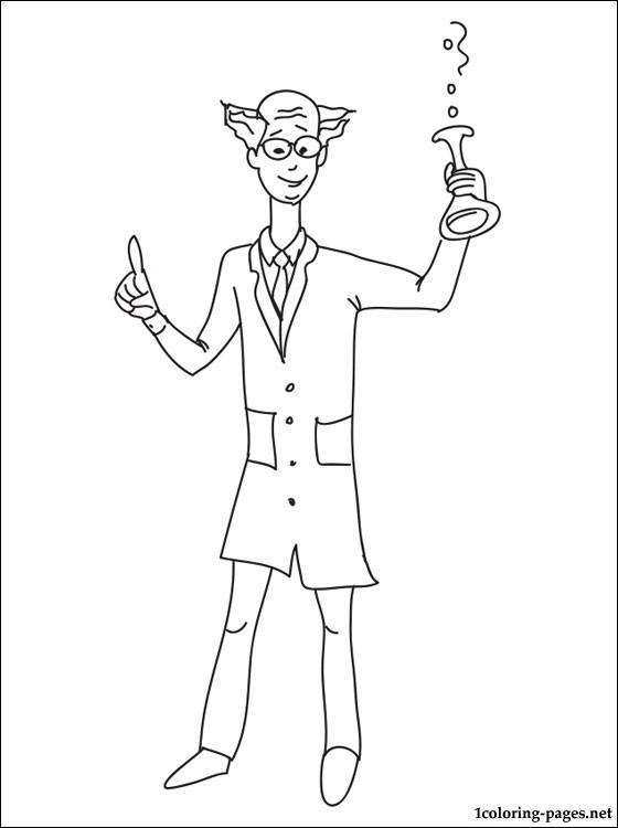 Scientist Coloring Page Coloring Pages