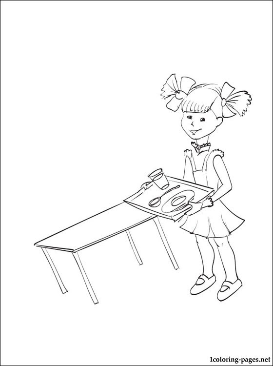 School Canteen Coloring Page Coloring Pages
