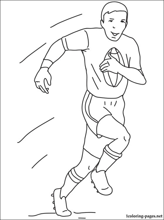 Rugby Coloring Page Coloring Pages
