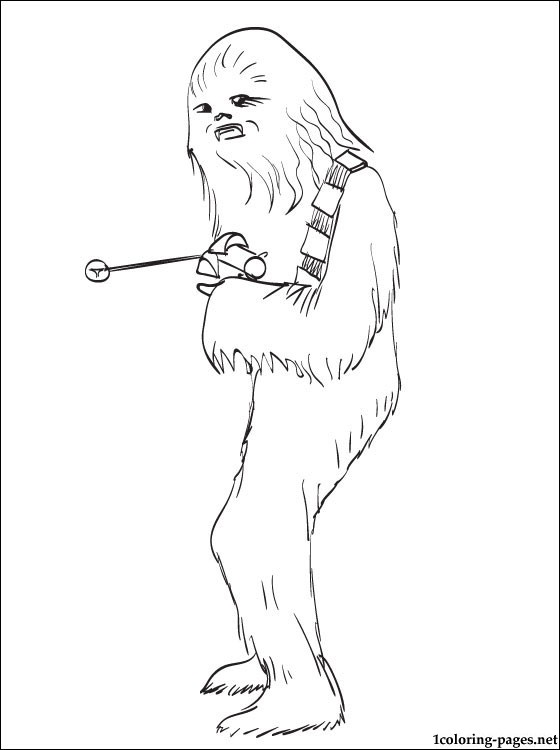 star wars chewbacca printable page to color coloring pages - Page To Color