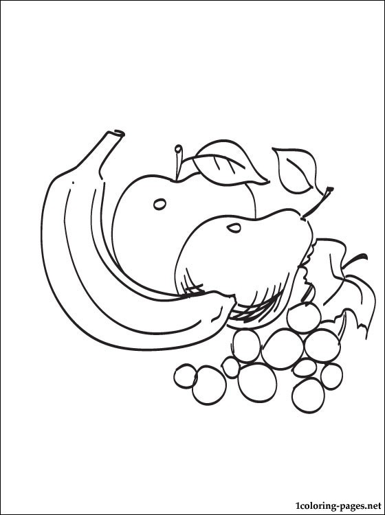 Summer Fruits Coloring Page Coloring Pages