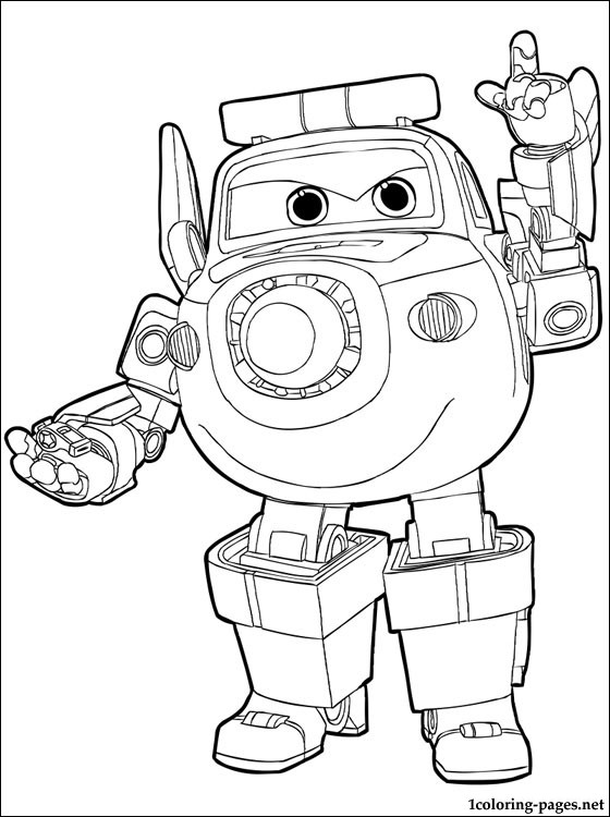 Paul From The Super Wings Coloring Pages